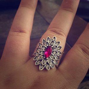 Beautiful Pink Gem Ring